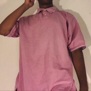 pink golf polo